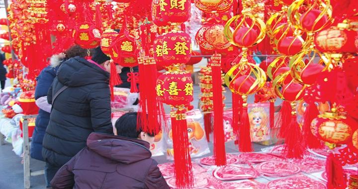 临汾平阳广场:红红火火年味浓