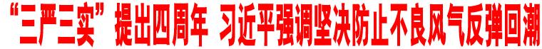 """""""三严三实""""提出四周年 习近平强调坚决防止不良风气反弹回潮"""