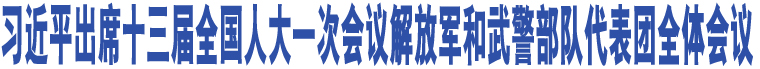 习近平出席十三届全国人大一次会议解放军和武警部队代表团全体会议