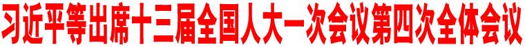 习近平等出席十三届全国人大一次会议第四次全体会议