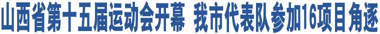山西省第十五届运动会开幕 我市代表队参加16项目角逐