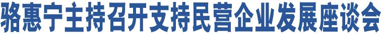 骆惠宁主持召开支持民营企业发展座谈会