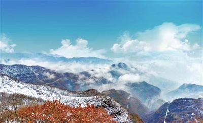 乡宁云丘山:雪中仙景