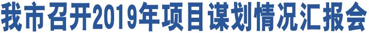 澳门金沙网上娱乐召开2019年项目谋划情况汇报会