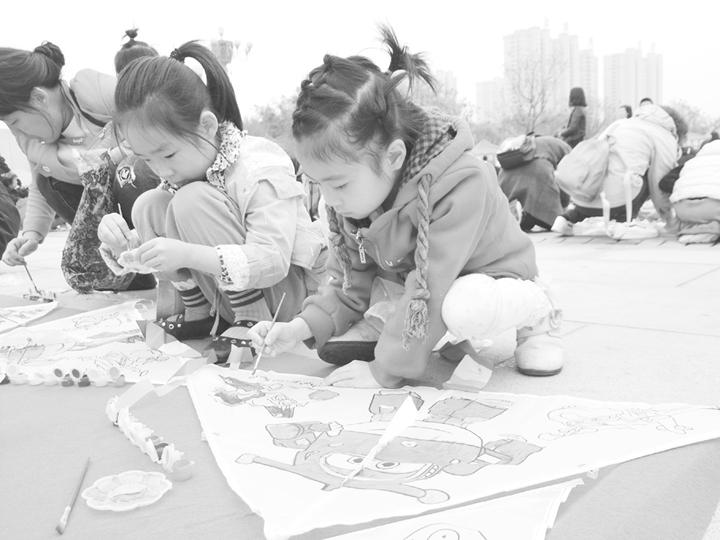 临汾澳门金沙线上娱乐平台首届青少年千人风筝节