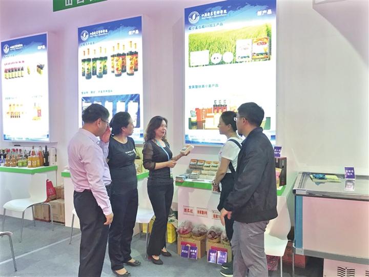 糯小麦走俏第六届中国(山西)特色农产品交易博览会