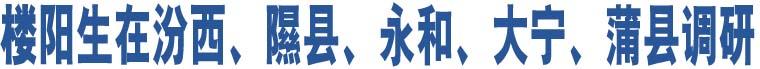 楼阳生在汾西、隰县、永和、大宁、蒲县调研
