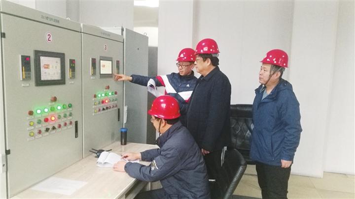 临汾市市场监督管理局对山西染化燃气锅炉进行验收
