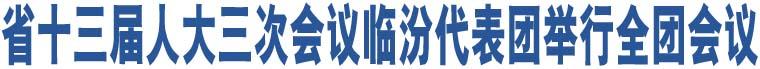 省十三届人大三次会议临汾代表团举行全团会议