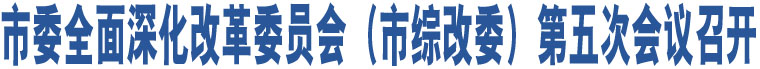 市委全面深化改革委员会(市综改委)第五次会议召开