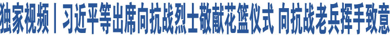 独家视频丨习近平等出席向抗战烈士敬献花篮仪式向抗战老兵挥手致意
