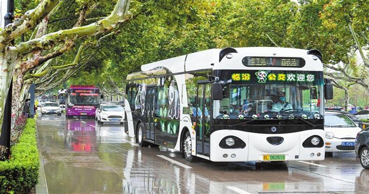 """临汾:""""熊猫公交车""""为城市添彩"""