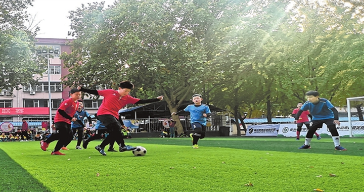 临汾市第一小学举办第五届校园足球联赛